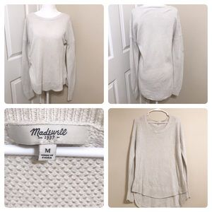 Madewell Beige Sweater M Long Cotton